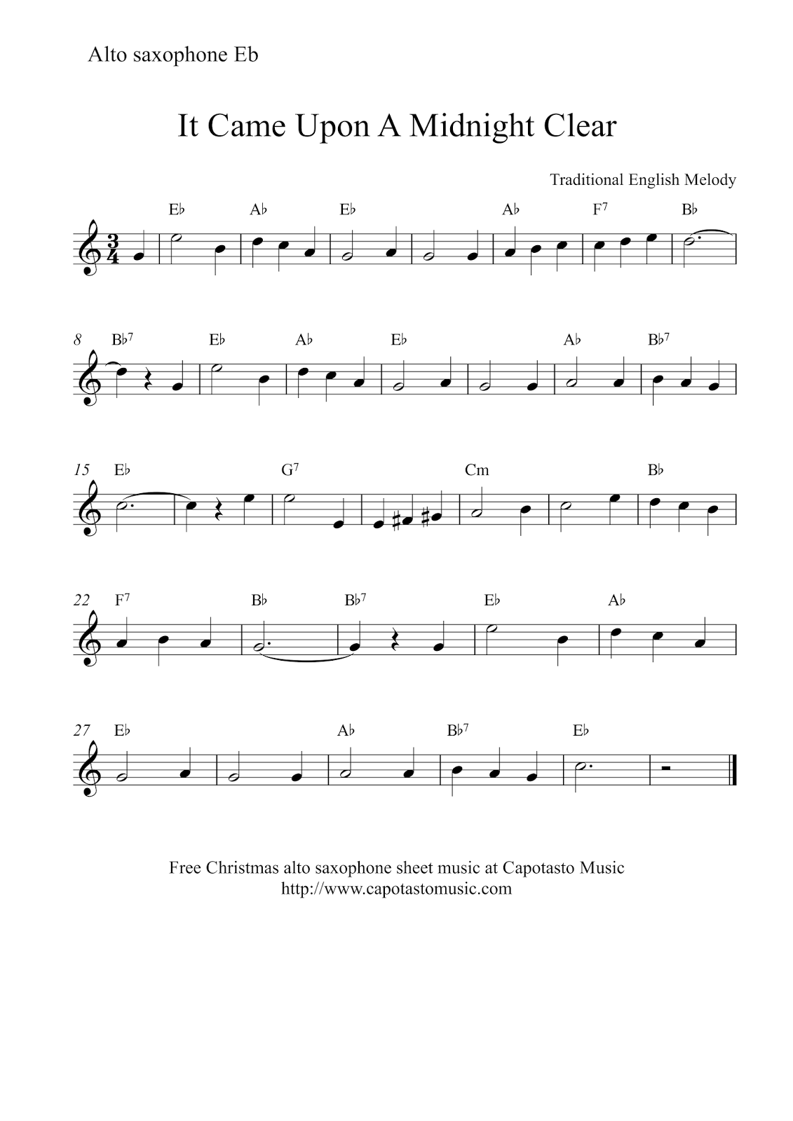 It's just an image of Clever Free Printable Alto Saxophone Sheet Music