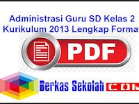 Administrasi Guru SD Kelas 2 Kurikulum 2013 Lengkap Format PDF