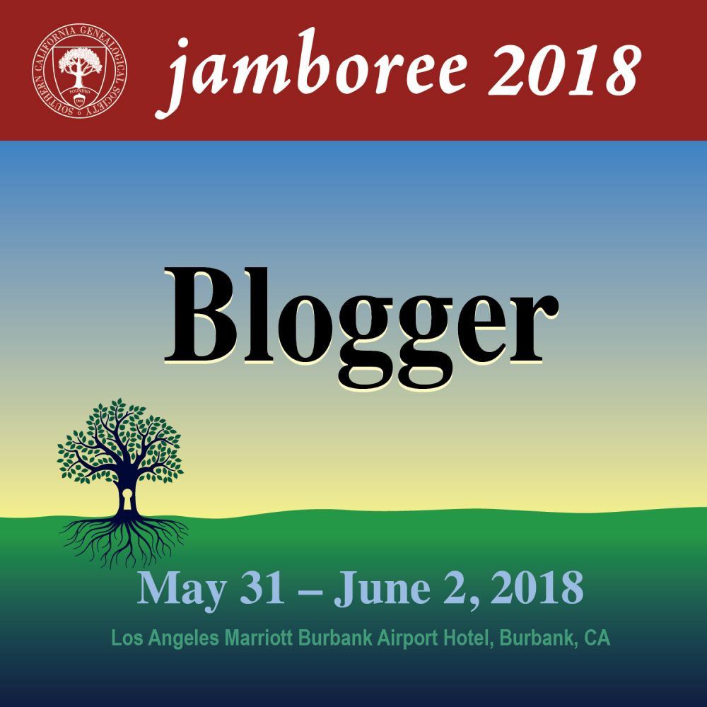Genealogy Jamboree 2018 Blogger