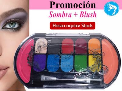 Sombra + Blush.12 Colores