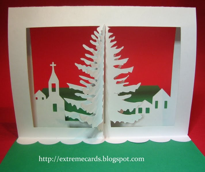 Extreme Christmas Trees: Extreme Cards And Papercrafting: 3d Christmas Tree Pop Up