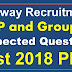 Railway ALP Group D Expected Question 2018 Assistant Loco Pilot Previous Year Papers PDF Download