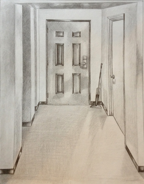 One Perspective Drawing Room: Stony Brook Foundations Of Drawing: Dorm Room One Point