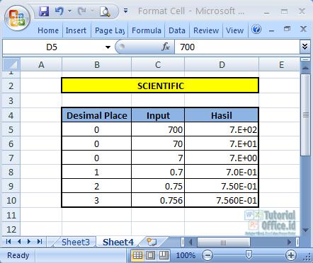Format Scientific