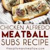 CHICKEN ALFREDO MEATBALL SUBS