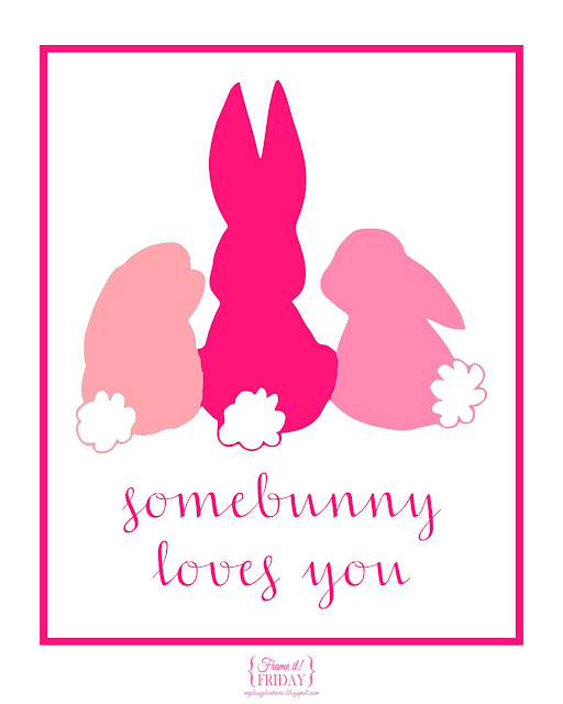 Somebunny loves you... a free printable