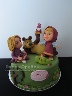 A Masha e o Urso foram ao aniversário da Diana