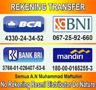 Rekening Transfer Agen De Nature