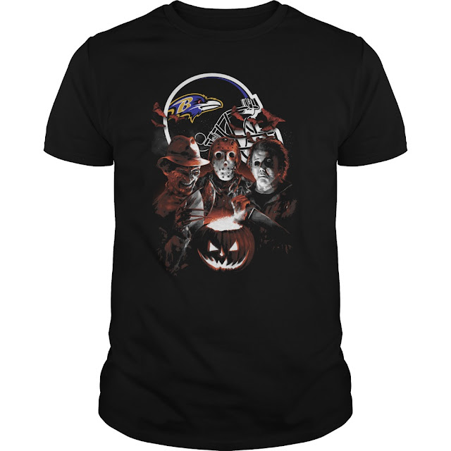 Baltimore Ravens Halloween Scream Team Shirt