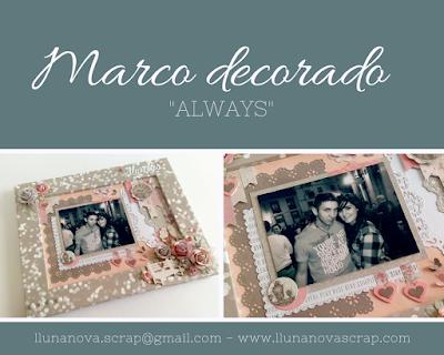 Marco decorado para fotografias