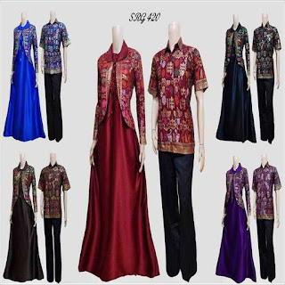gamis batik kombinasi 2018