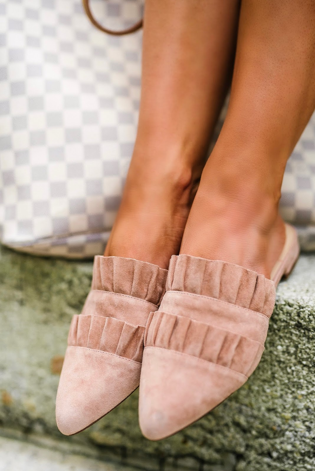 Under $100 Ruffle Mules - Something Delightful Blog