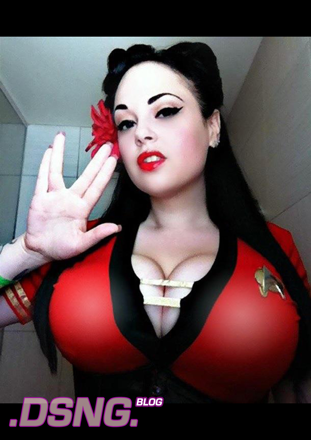 Sexy cosplay big trek boobs star