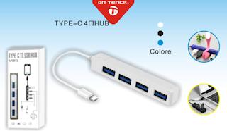 USB C HUB USB 4 PORTA ON TENCK