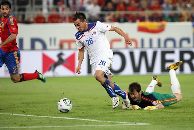 España y Chile en partido amistoso, 2 de septiembre de 2011