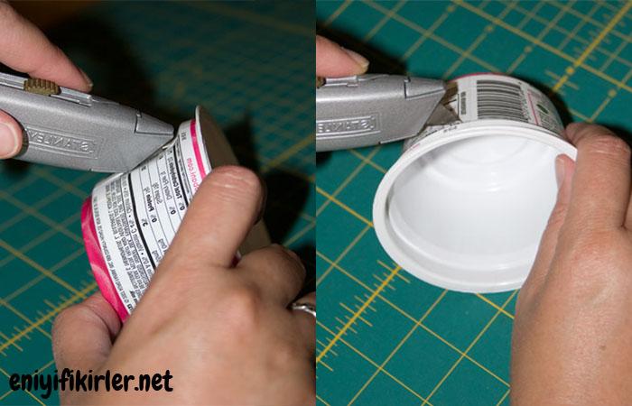 plastik kap ile bileklik yapımı