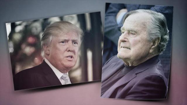 Bush padre: Asistir a investidura de Trump me pondrá en la tumba