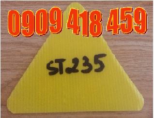 tấm nhựa carton 2mm màu vàng
