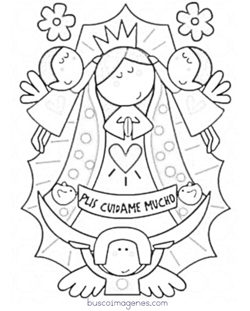 Dibujos Para Colorear Virgen De Guadalupe Moderna