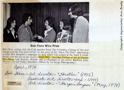 """Bob Flora wins prize for his entry in the """"Meet the Pros"""" advertising contest"""