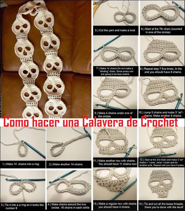Motivos solo de Halloween en Crochet