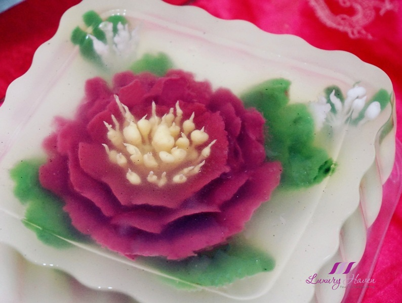 creative food art 3d gelatin flowers carnation