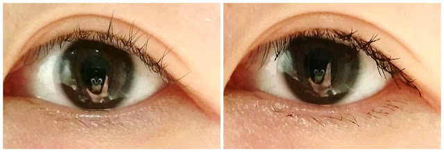 Left: without mascara. Right: with Lancome Monsieur Big.