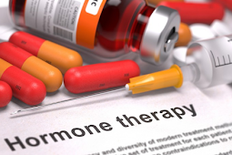 A hormone therapy for slowing tumor growth in the treatment of breast cancer