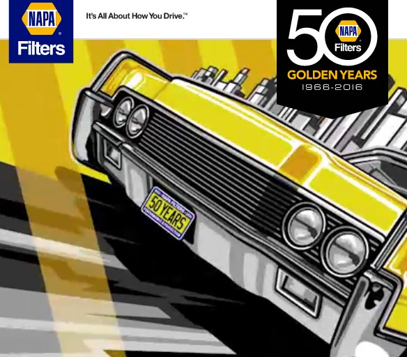 Napa Filters is celebrating their 50th Anniversary and thanking customers for their success by offering them a chance to win a $5000 Gift Card, a Max Grundy tools shop cabinet & more!