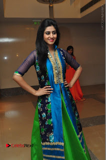 Actress Model Shamili Sounderajan Pos in Desginer Long Dress at Khwaaish Designer Exhibition Curtain Raiser  0035.JPG
