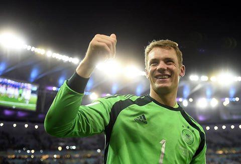 """""""Hậu vệ quét"""" Neuer đã thi đấu xuất sắc tại World Cup 2014"""