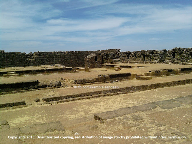 Ruins of the King Shivaji's Palace at Raigad Fort