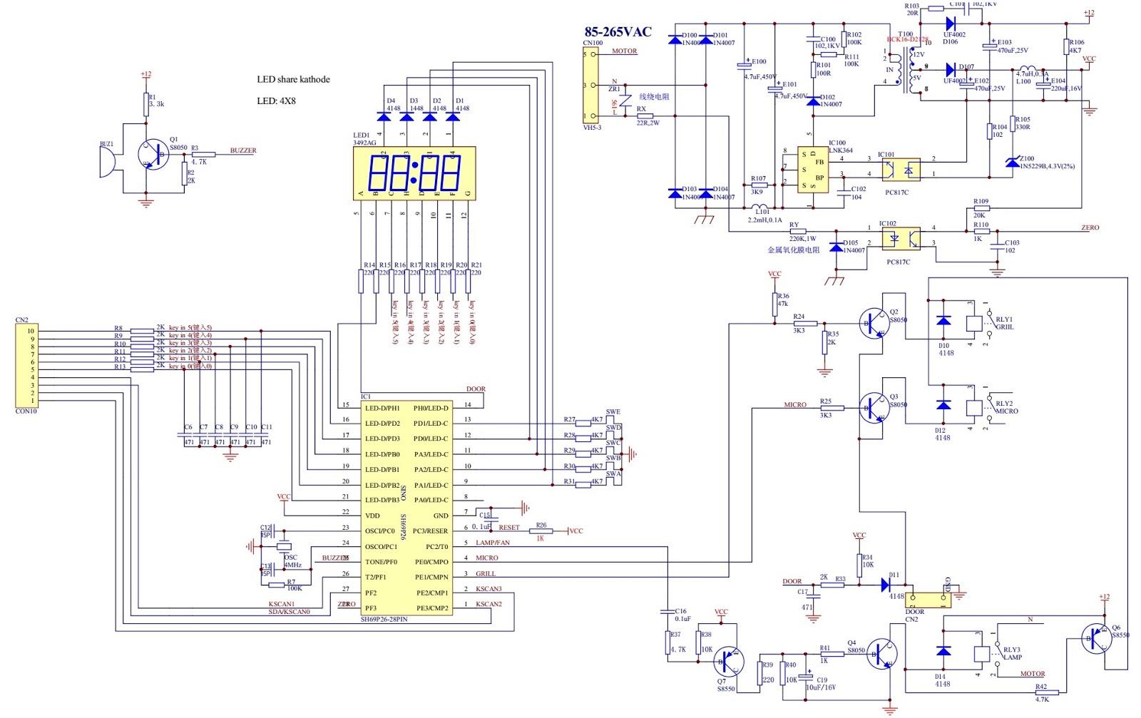 Panasonic Microwave oven NNST652WRUN NNST652WRUK troubleshooting
