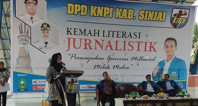 Wabup Sinjai Buka Kemah Literasi Jurnalistik KNPI
