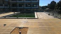 pemasangan yang sudah selesai decking kayu bengkirai