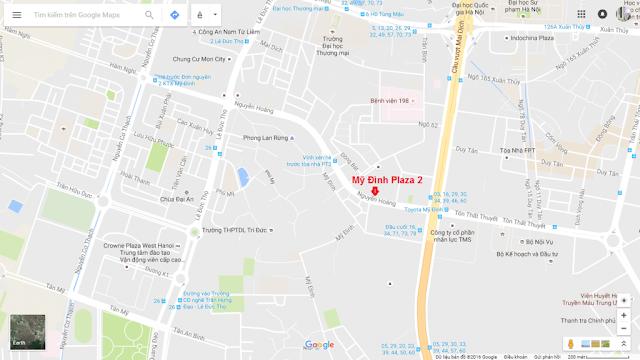Vị trí dự án chung cư Mỹ Đình Plaza 2
