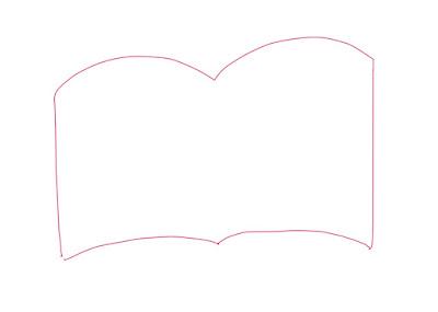 アイコン 「読書」 (作: 塚原 美樹) ~ 本の見えているページの外側を描く