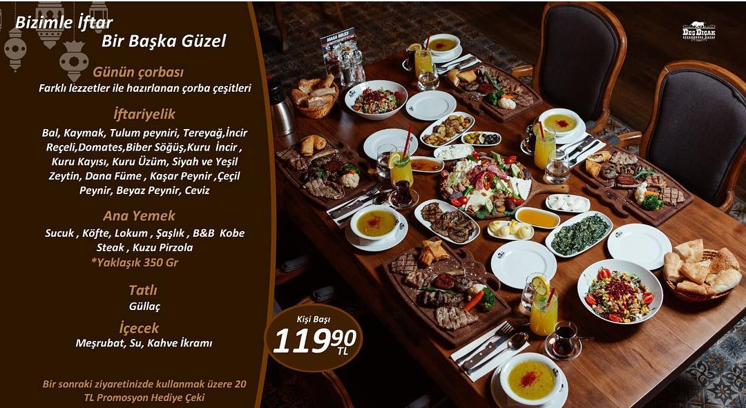 bes-bicak-steak-house-beylikdüzü-istanbul iftar menüleri