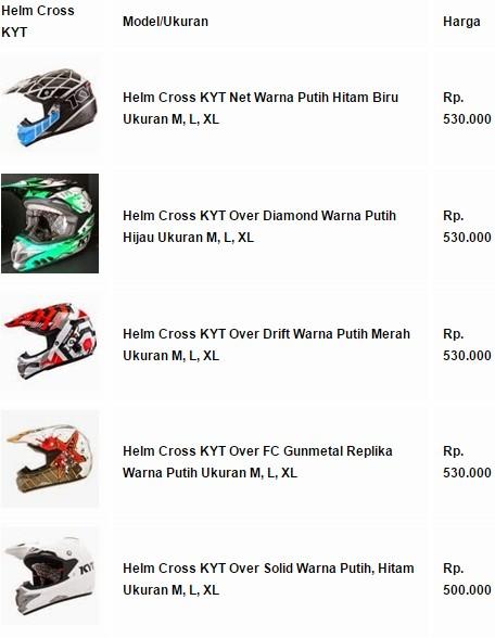 Harga Helm Cross KYT