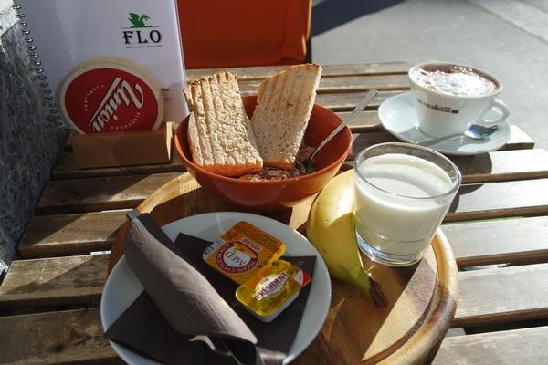 ljubljana restaurant Zmajček Flo marché ljubljanica petit déjeuner