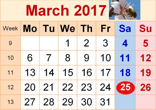 Σύμπτωση της αργίας 25 Μαρτίου 2017 με Σάββατο. Ιδιαιτερότητες.