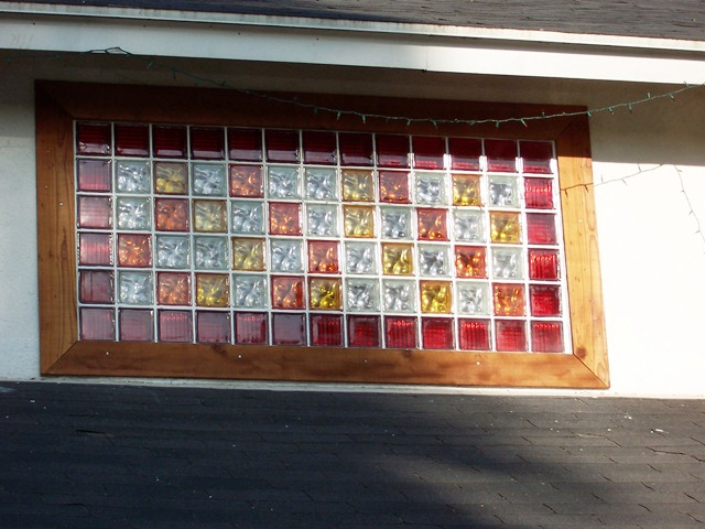 Colored GLASS Block WINDOWS