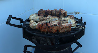 BBQ loaded with meat (the veg came later. Honest)
