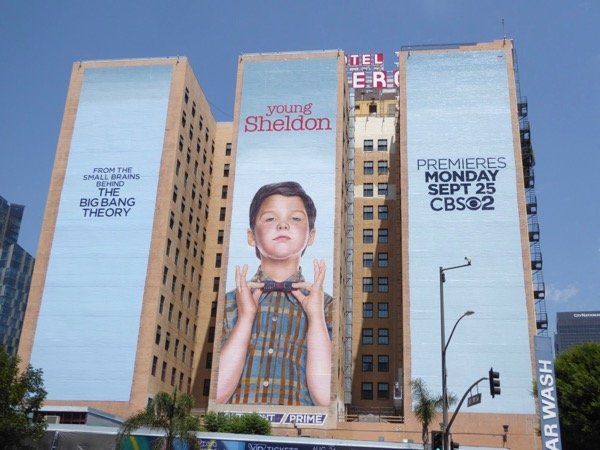 Young Sheldon series launch billboard