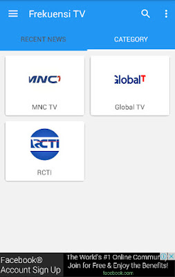 Frekuensi TV ALL Channel Melalui Aplikasi Android