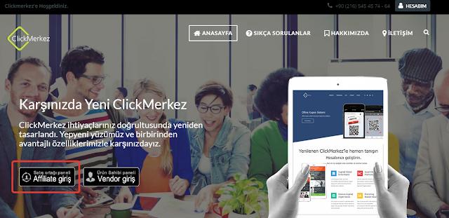 click merkez satış ortaklığı yapımı