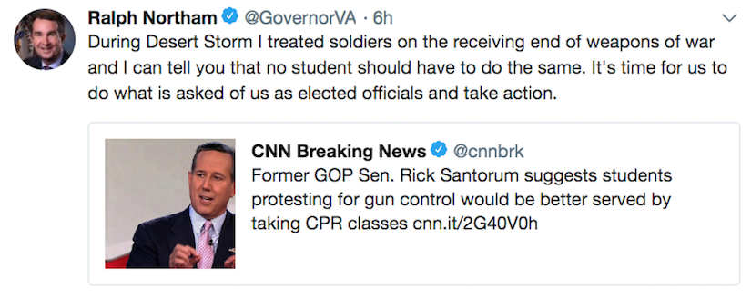 Rick Santorum suggests students learn CPR instead of protest