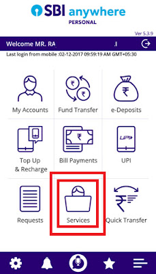how to know cif number of sbi account number through sbi anywhere app
