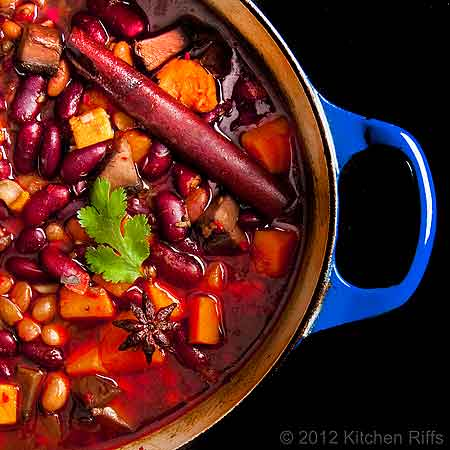 Red-Braised Beans and Sweet Potatoes