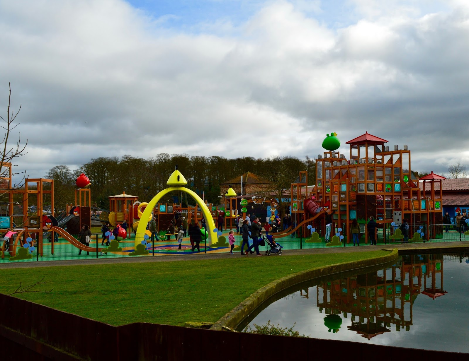 Visiting Angry Birds Activity Park at Lightwater Valley, North Yorkshire - whole play area